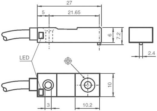 Induktív közelítés érzékelő, kapcsolási távolság: 4 mm, Pepperl & Fuchs NBN4-F29-A2