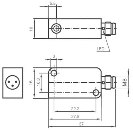 Induktív közelítés érzékelő, kapcsolási távolság: 2 mm, Pepperl & Fuchs NBB2-V3-E2-V3