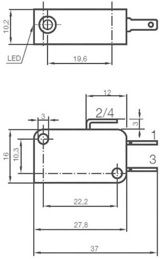 Induktív közelítés érzékelő, kapcsolási távolság: 2 mm, Pepperl & Fuchs NBB2-V3-E2-V5