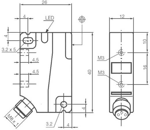 Induktív közelítés érzékelő, kapcsolási távolság: 8 mm, Pepperl & Fuchs NBN8-F1-E2-V3