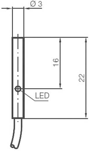 Induktív közelítés érzékelő Ø 3 mm, kapcsolási távolság: 0,6 mm, nemesacél, Pepperl & Fuchs NBB0,6-3M22-E2