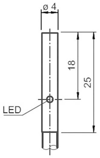 Induktív közelítés érzékelő Ø 4 mm, kapcsolási távolság: 0,8 mm, nemesacél, Pepperl & Fuchs NBB0,8-4M25-E2