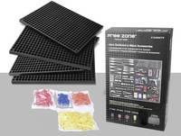1553641 Perforált lemezfal-készlet 68 darab (H x Sz x Ma) 280 x 195 x 12 mm