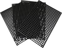 1553645 Perforált panel fal 4 darab (H x Sz x Ma) 280 x 195 x 12 mm