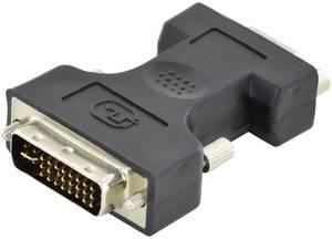Digitus DVI / VGA Átalakító [1x DVI dugó, 24+5 pólusú - 1x D-SUB alj, 15 pólusú] Fekete Egyszeres árnyékolás, Árnyékolt, Digitus