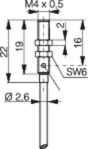 Induktív közelítés kapcsoló (-érzékelő) M4, kapcsolási távolság: 0,6 mm, Contrinex DW-AD-303-M4