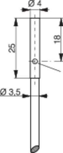 Induktív közelítés kapcsoló (-érzékelő) Ø 4 mm, kapcsolási távolság: 0,8 mm, Contrinex DW-AD-603-04