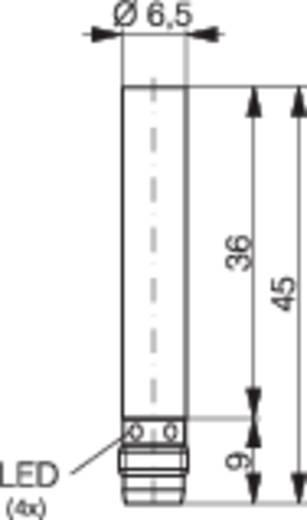 Induktív közelítés kapcsoló (-érzékelő) Ø 6,5 mm, kapcsolási távolság: 1,5 mm, Contrinex DW-AS-603-065-001
