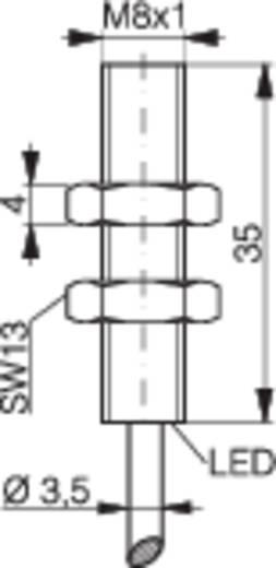 Induktív közelítés kapcsoló (-érzékelő) M8, kapcsolási távolság: 1,5 mm, Contrinex DW-AD-603-M8
