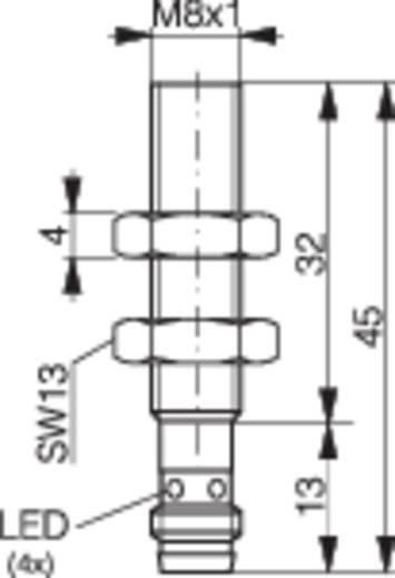 Induktív közelítés kapcsoló (-érzékelő) M8, kapcsolási távolság: 1,5 mm, Contrinex DW-AS-603-M8-001