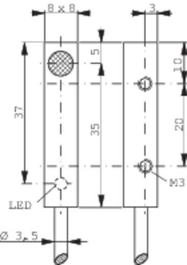 Induktív közelítés kapcsoló (-érzékelő) 8 x 8 mm, kapcsolási távolság: 1,5 mm, Contrinex DW-AD-603-C8
