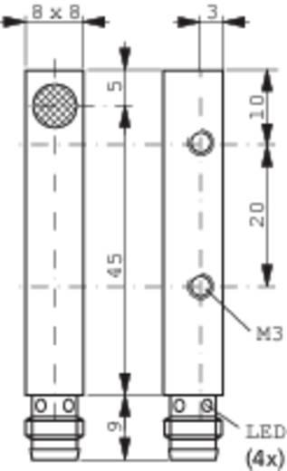 Induktív közelítés kapcsoló (-érzékelő) 8 x 8 mm, kapcsolási távolság: 1,5 mm, Contrinex DW-AS-604-C8-001