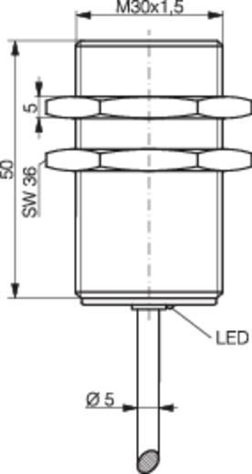 Induktív közelítés kapcsoló (-érzékelő) M30, kapcsolási távolság: 10 mm, Contrinex DW-AD-603-M30
