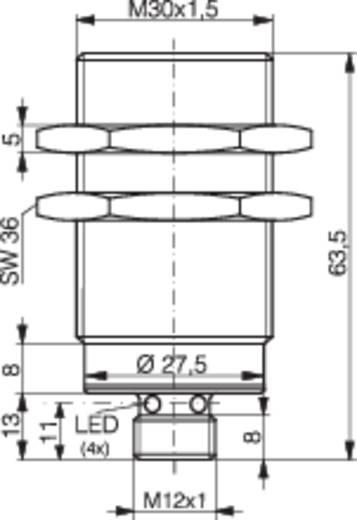 Induktív közelítés kapcsoló (-érzékelő) M30, kapcsolási távolság: 10 mm, Contrinex DW-AS-603-M30-002