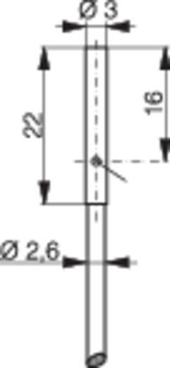 Induktív közelítés kapcsoló (-érzékelő) Ø 3 mm, kapcsolási távolság: 1 mm, Contrinex DW-AD-623-03
