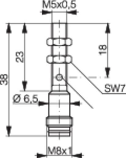 Induktív közelítés kapcsoló (-érzékelő) M5, kapcsolási távolság: 1,5 mm, Contrinex DW-AS-623-M5