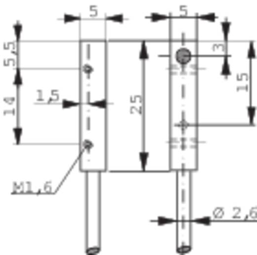Induktív közelítés kapcsoló (-érzékelő) 5 x 5 mm, kapcsolási távolság: 1,5 mm, Contrinex DW-AD-623-C5