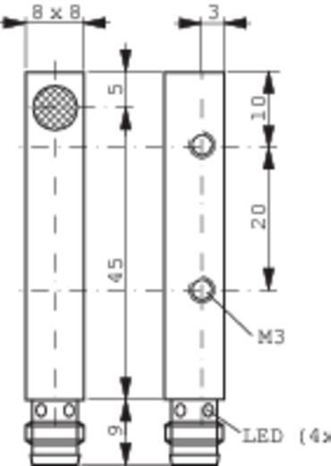 Induktív közelítés kapcsoló (-érzékelő) 8 x 8 mm, kapcsolási távolság: 2 mm, Contrinex DW-AS-623-C8-001
