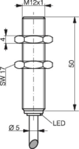 Induktív közelítés kapcsoló (-érzékelő) M12, kapcsolási távolság: 4 mm, Contrinex DW-AD-623-M12