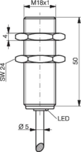 Induktív közelítés kapcsoló (-érzékelő) M18, kapcsolási távolság: 8 mm, Contrinex DW-AD-623-M18