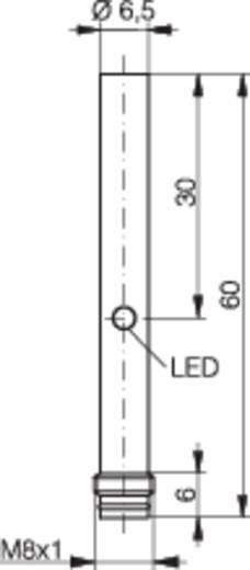 Induktív közelítés kapcsoló (-érzékelő) Ø 6,5 mm, kapcsolási távolság: 3 mm, Contrinex DW-AS-503-065-001