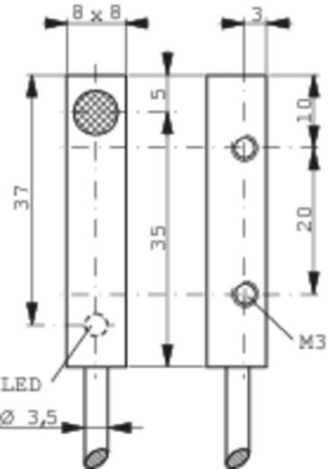 Induktív közelítés kapcsoló (-érzékelő) 8 x 8 mm, kapcsolási távolság: 3 mm, Contrinex DW-AD-503-C8