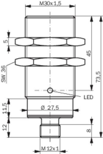 Induktív közelítés kapcsoló (-érzékelő) M30, kapcsolási távolság: 22 mm, Contrinex DW-AS-503-M30-002