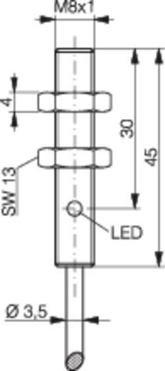 Induktív közelítés kapcsoló (-érzékelő) M8, kapcsolási távolság: 4 mm, Contrinex DW-AD-523-M8