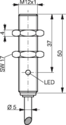 Induktív közelítés kapcsoló (-érzékelő) M12, kapcsolási távolság: 8 mm, Contrinex DW-AD-523-M12