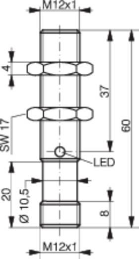 Induktív közelítés kapcsoló (-érzékelő) M12, kapcsolási távolság: 8 mm, Contrinex DW-AS-523-M12