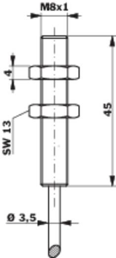 Induktív közelítés kapcsoló analóg kimenettel, M8, kapcsolási távolság: 0-4 mm, 0-10 V, Contrinex DW-AD-509-M8-390