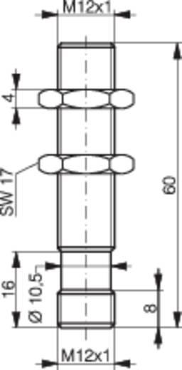 Induktív közelítés kapcsoló analóg kimenettel, M12, kapcsolási távolság: 0-6 mm, 0-10 V, Contrinex DW-AS-509-M12-390