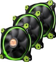 Számítógépház ventilátor Thermaltake 3 db RIING LED (Sz x Ma x Mé) 120 x 120 x 25 mm (CL-F055-PL12GR-A) Thermaltake