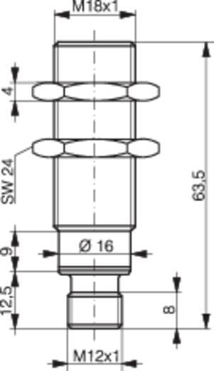 Induktív közelítés kapcsoló analóg kimenettel, M18, kapcsolási távolság: 0-10 mm, 0-10 V, Contrinex DW-AS-509-M18-390