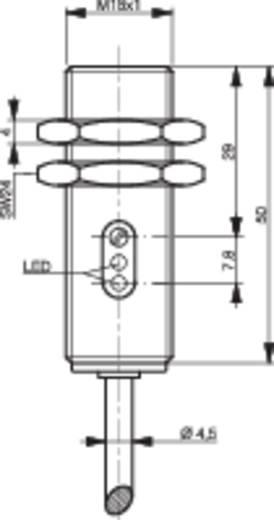 Fénysorompó, reflexiós fénydetektor HGA-val hatótáv 10-120mm M18 menettel Contrinex LHK-1180-303