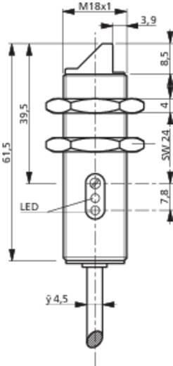 Fénysorompó, reflexiós fénydetektor HGA-val hatótáv 10-120mm M18 menettel Contrinex LHK-1180W-303