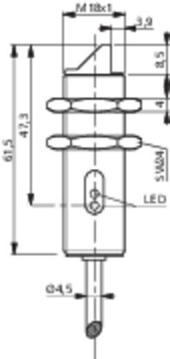 Fénysorompó, reflexiós fénydetektor hatótáv 2000mm M18 menettel Contrinex LRK-1180W-304