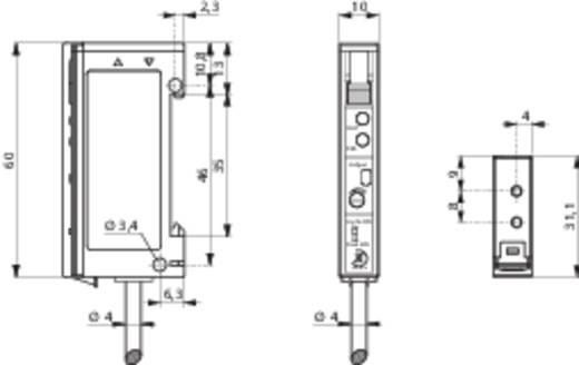 Optikai kábel erősítő DIN-sínes szereléshez, Contrinex LFK-3060-103