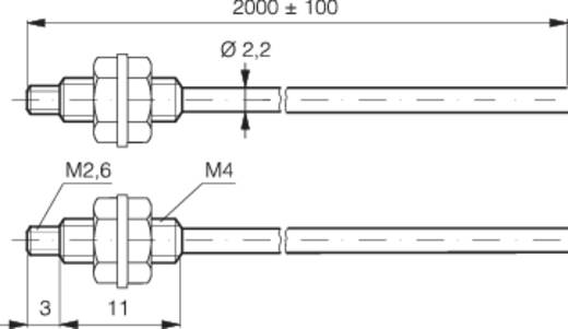 Optikai kábel 2 m, hatótáv: 700 mm, Contrinex LFP-2002-020