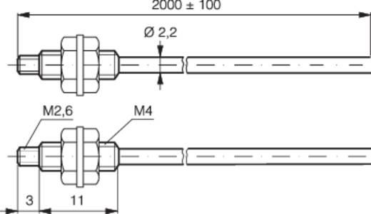 Optikai kábel 2 m, hatótáv: 550 mm, Contrinex LFP-2102-020