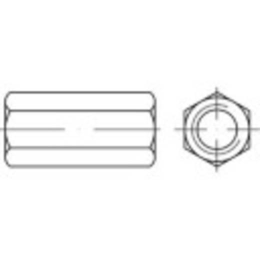 TOOLCRAFT hatlapfejű összekötő karmantyú, 50 mm acél, galvanikuksan horganyzott, M12 50 db 155975
