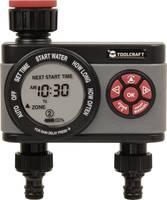 Kerti vízcsapra szerelhető kettős öntöző időkapcsoló, öntözésvezérlő, öntözőkomputer, TOOLCRAFT 1561121 TOOLCRAFT