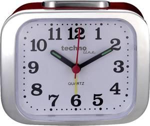 Kvarc analóg ébresztőóra, piros, Techno Line Geneva XL Techno Line