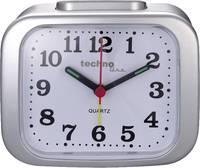 Kvarc analóg ébresztőóra, ezüst, Techno Line Geneva XL Techno Line