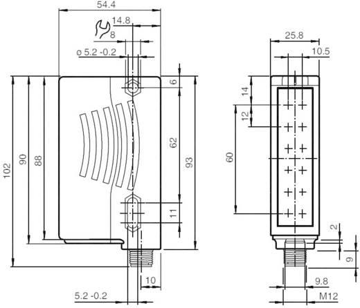 Felületi fénysorompó Pepperl & Fuchs RLG28-55/40a/73c/136 Hatótáv 0 - 4 m