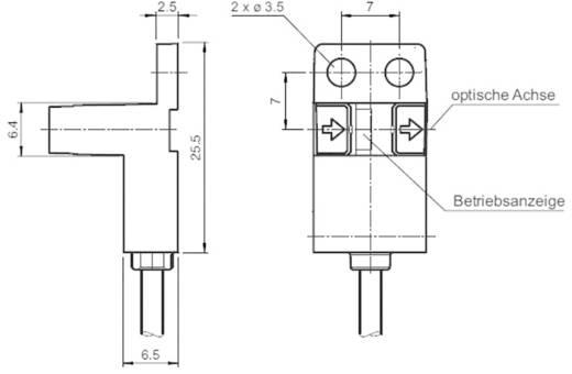 Villás fénysorompó, hatótáv: 5 mm, Pepperl & Fuchs GL5-Y/43a/115