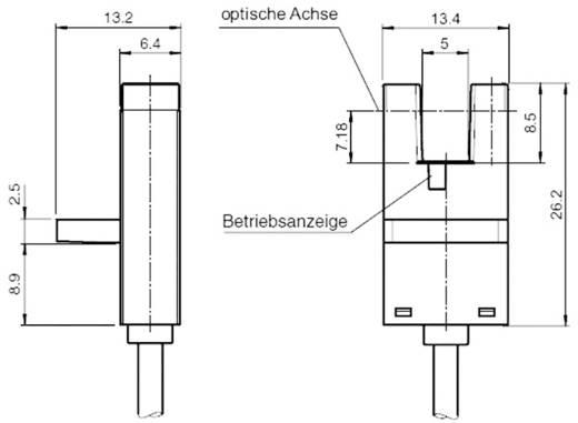 Villás fénysorompó, hatótáv: 5 mm, Pepperl & Fuchs GL5-J/43a/115