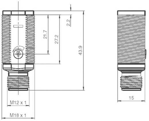 Reflexiós fénysorompó háttér szűréssel, Pepperl & Fuchs GLV18-8-H-120/73/120