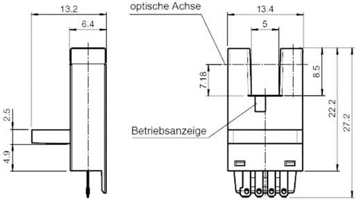 Villás fénysorompó, hatótáv: 5 mm, Pepperl & Fuchs GL5-J/43a/155