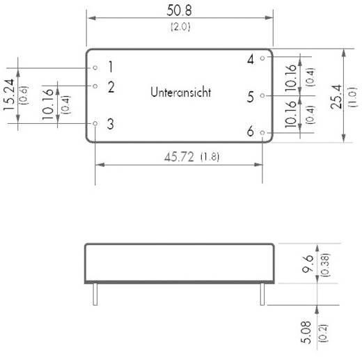 DC/DC átalakító, TEL sorozat 30 W, bemenet: 36 - 75 V/DC, kimenet: 12 V/DC 2500 mA 30 W, TracoPower TEL 30-4812
